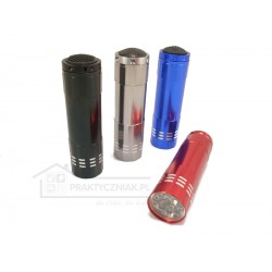 Aluminiowa latarka 9 LED