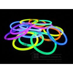 Świecące bransoletki - światło chemiczne 100 szt