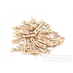 Mini klamerki drewniane 25mm - 10 szt.
