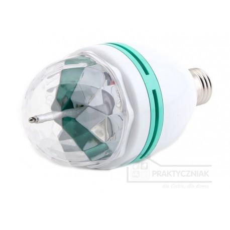 Obrotowa żarówka disco - LED