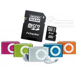 Odtwarzacz mp3 + karta pamięci Micro SD 8 GB