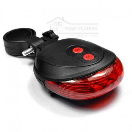 Lampka rowerowa LED z laserem